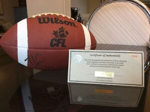 Official CFL Football - Signed by Noel Prefontaine