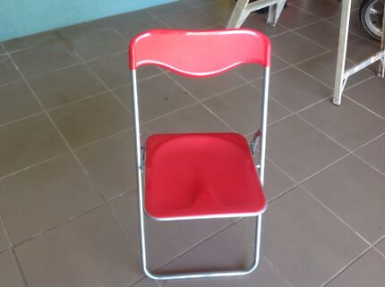 Brand new red fold up chairs $7 each I have 3of them moving must Marrickville Marrickville Area Preview