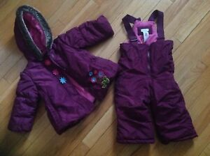 Girls Winter Jacket and Snow Pants size 6-12 months