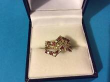 14ct Gold with Rubies and Zirconia Ring - Perfect Xmas Gift Idea Woodville Gardens Port Adelaide Area Preview