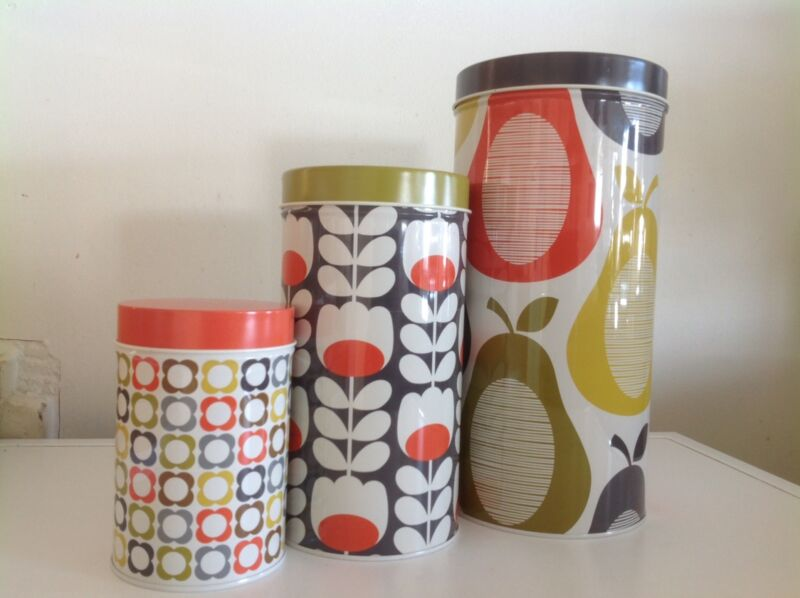 Orla Kiely House Canisters Set Of 3 Other Kitchen Dining