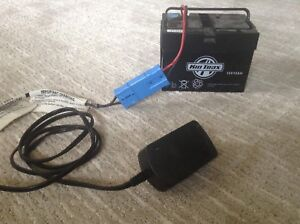 12V battery and charger for power wheels