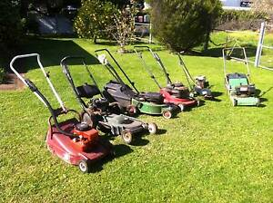 5 lawnmowers push 1 edger  joblot Bargo Wollondilly Area Preview