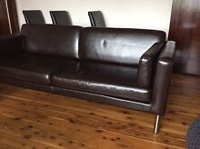 Almost NEW IKEA Dark brown leather 3 seater couch North Sydney North Sydney Area Preview
