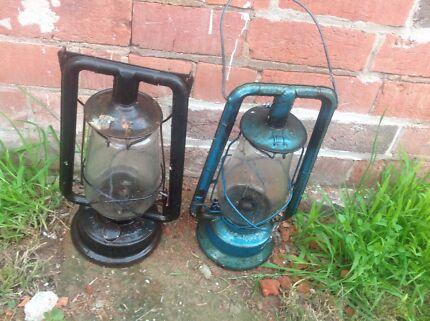 Two old retro lanterns Singleton Area Preview