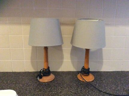 Two bedside lamps in excellent condition