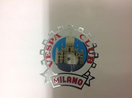 Vespa Club of Milano Legshield Chrome Sticker Piaggio Scooter West Melbourne Melbourne City Preview