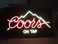 vintage coors light lit beer sign