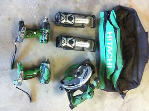 Hitachi 18V 4 piece cordless set Loganholme Logan Area Preview