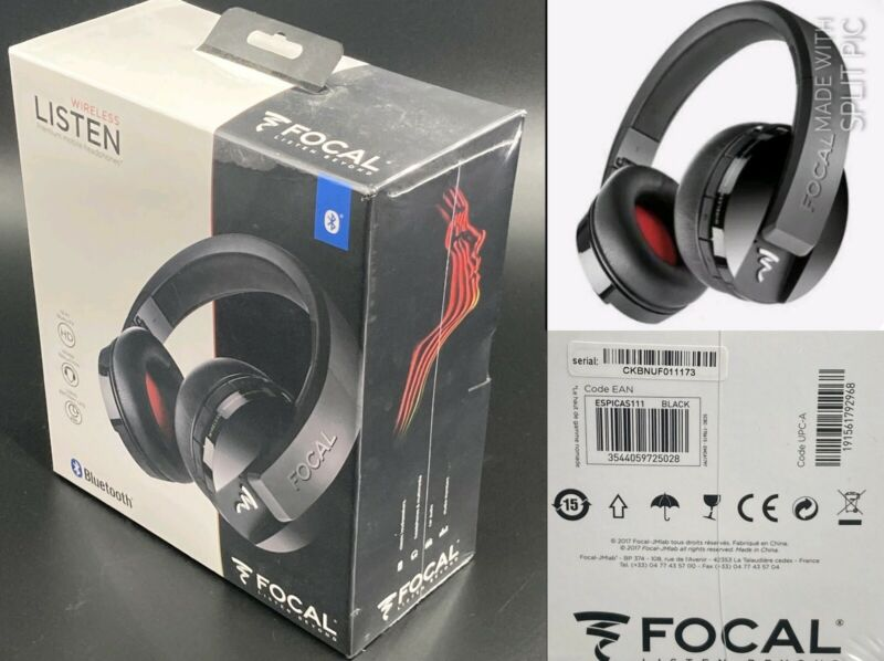 NEW / SEALED: Focal Listen Wireless Bluetooth Headphones