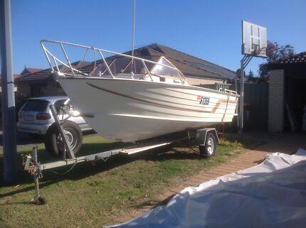 480 osprey aluminium boat and trailer