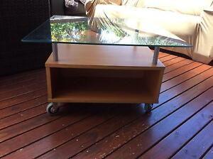 Glass top coffee table Caringbah Sutherland Area Preview