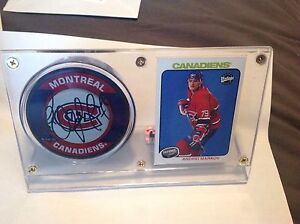Andrei Markov Autographed Hockey Puck ( Montreal Canadians )