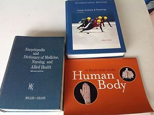 4 books & 3 charts about the human body Beenleigh Logan Area Preview