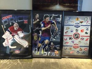 27 x 40 poster frames with poster - NHL,  Messi