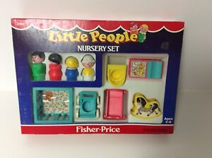 Fisher Price vintage Little People Nursery Set in the box