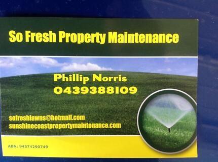 SO FRESH PROPERTY MAINTENANCE Morayfield Caboolture Area Preview