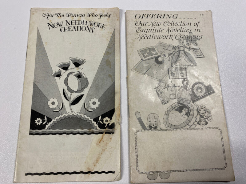 Vintage 1927 Bucilla Embroidery Package Outfits Catalog Needlework Lot of 2