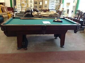 Good condition used pool table with accessories