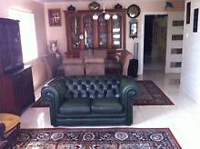 PAIR OF GREEN 2 X2 SEAT& UNIQUE CHAISE &1X3 CHESTERFIEL & OTTOMAN Adelaide CBD Adelaide City Preview