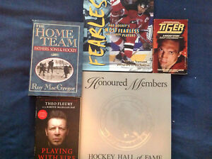 Collection of hockey books