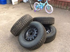 Complete set of winter tires