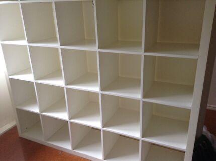 Ikea Kallax Credenza : Storage unit credenza with sliding doors bookcases shelves
