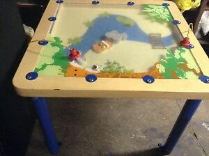 Children's table Lego table and chalkboard whiteboard