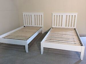 BRAND NEW white king single matching beds SYD DELIVERY & ASSEMBLY Windsor Hawkesbury Area Preview
