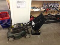 Cordless compact lawnmower at Waterloo Restore