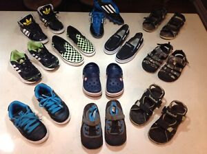Boys shoes size 11, 12, 13 (for 5-7yrs) Adidas, Carter's, DC