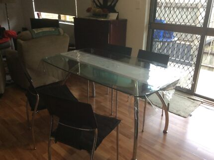 Glass dining table6 chairsDining TablesGumtree Australia