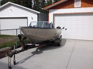 17 foot aluminum boat with 90 hp mercury EFI outboard