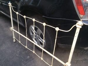 Cast iron double headboard and footboard