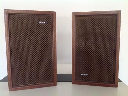 Sony SS-510 speakers, 1970's retro