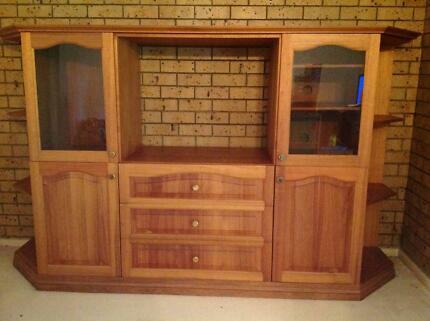 Solid Timber Wall Unit | Cabinets | Gumtree Australia Brisbane North ...