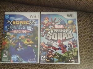 Sonic all start racing and marvel super hero squad