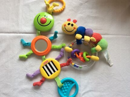 Hangers for toys and Fisher Price, baby Einstein rattles Old Beach Brighton Area Preview
