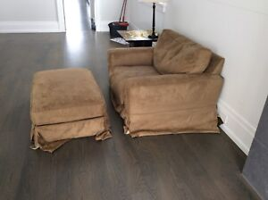 Couch, oversized chair and ottoman