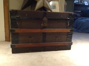 Beautiful, sturdy, antique steamer trunk