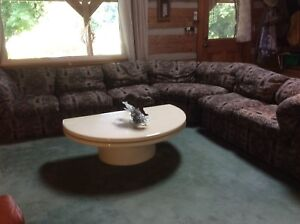 Sectional couch, love seat ,ottoman , &  coffee table. $500