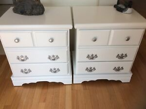 Nightstands refurbished. Firm price. Also Dressers for sale