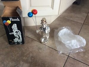 BRAND NEW SILVER PLATED CLOWN BANK