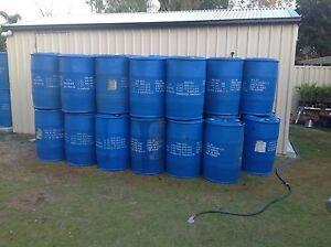 205 litre plastic blue drums Gunalda Gympie Area Preview