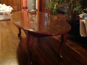Coffee table & one end table.