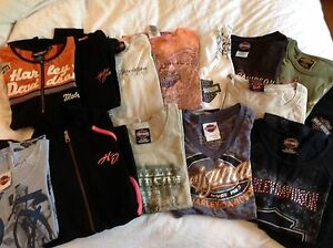 Lot de t-shirt et chandail Harley-Davidson