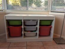 IKEA Trofast toy storage system with 7 baskets, white Caringbah Sutherland Area Preview