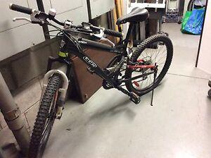 Black CCM mountain bike