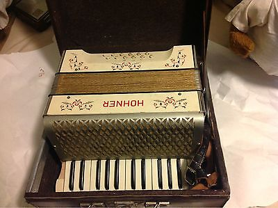 Hohner Accordion Keys ,and Case