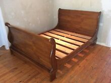 Solid wooden queen size sleigh bed frame SYD DELIVERY & ASSEMBLY Windsor Hawkesbury Area Preview